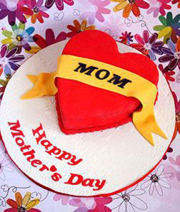 Mother's Day Love Heart Cake