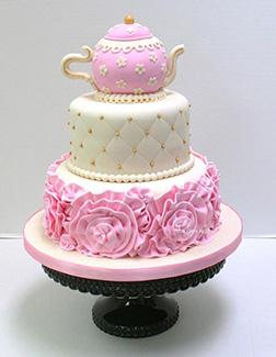 Her Favorite Tea Pot Cake