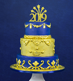 Royal and Blue New Year Cake