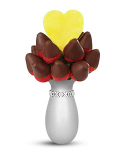 Heart of Silver Pineapple and Berry Bouquet