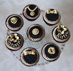 Black And Gold Jewelery Cupcakes