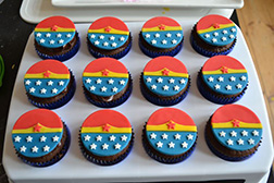 Wonder Woman Dozen Cupcakes