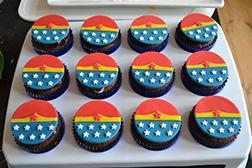 Wonder Woman Dozen Cupcakes