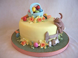Egg Hunt Bunny Cake