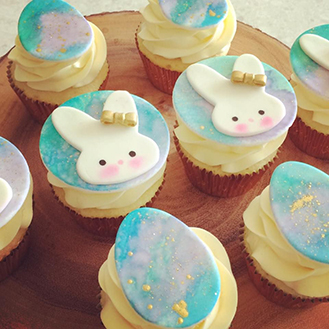 Bunny in a Bow Cupcakes