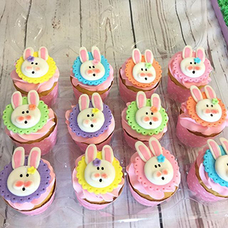 Bunny Friends Easter Cupcakes