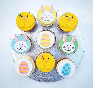 Young At Heart Easter Cupcakes