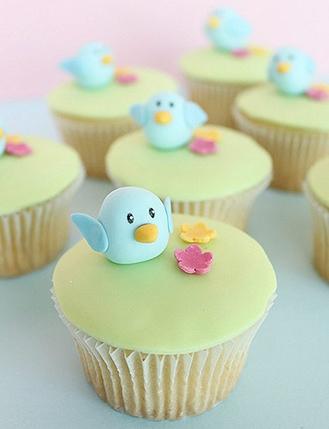 Little Blue Chicks Cupcakes