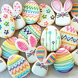 Color Splash Easter Cookies
