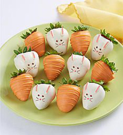 Easter Bunnies Dipped Strawberries