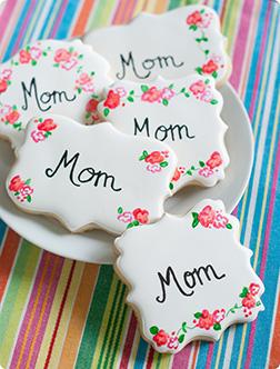 Vintage Floral Mom Cookies