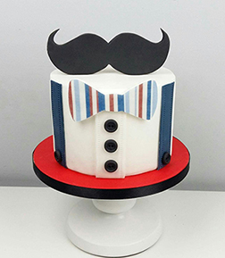 Hipster Style Father's Day Cake