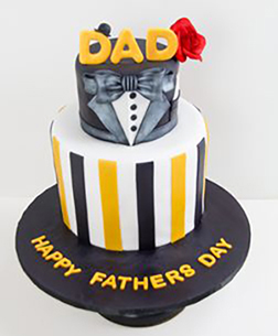 Dapper Dad Father's Day Cake