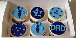 Blue Shirt Father's Day Cupcakes
