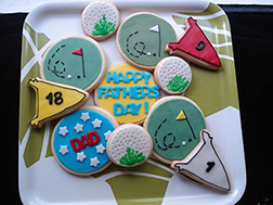 Hole-in-One Father's Day Cookies