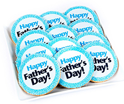 Cheerful Blue Father's Day Cookies