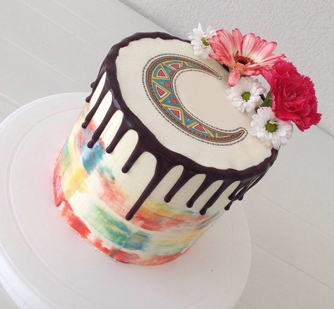 Color Pop Ramadan Cake