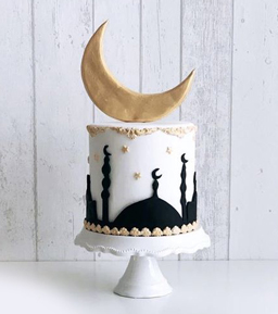 Golden Moon Ramadan Cake