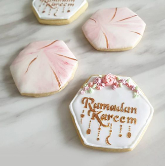 Marvelous Pink Ramadan Cookies