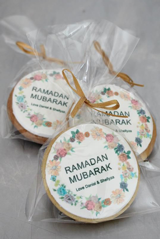 Floral Wreath Ramadan Cookies