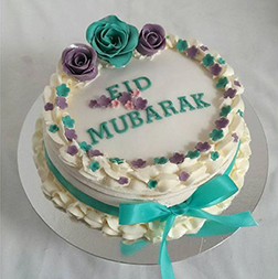 Vibrant Frosted Eid Cake