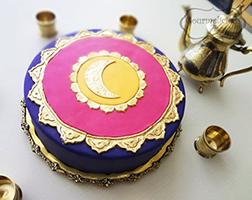 Golden Moments Eid Cake