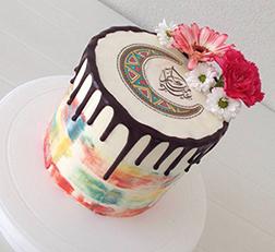 Pastel Drip Eid Cake