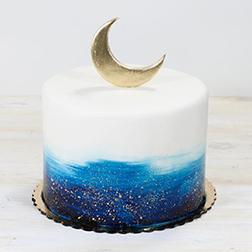 Deep Blue Eid Cake