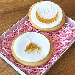 Gold Glitter Eid Cookies