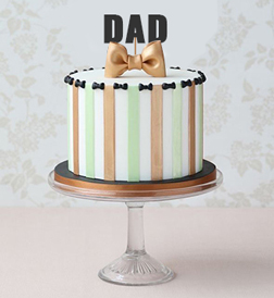 Gold Bow Tie Father's Day Cake