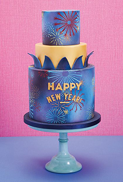 New Year Fireworks Cake