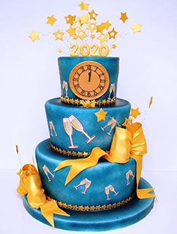 Party All Night New Year Cake