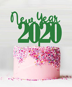 Pink Confetti New Year Cake