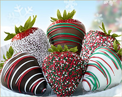 Christmas Dinner Party Dipped Strawberries