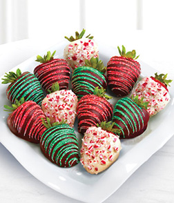 Colors of Christmas Dipped Strawberries