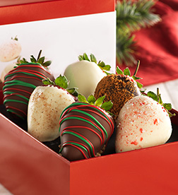 Christmas Eve Delight Dipped Strawberries