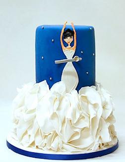 Satin Ruffle Princess Cake