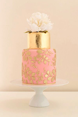 Luxury Gold Tiered Cake