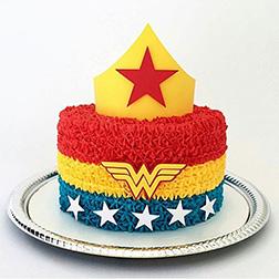 Wonder Woman Ruffles Cake
