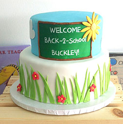 Welcome Back Tiered Cake
