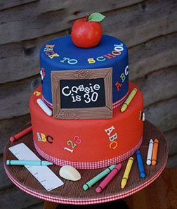 Crayon Fun Tiered Cake