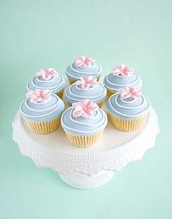 Pink Spring Flower Cupcakes -  One Dozen