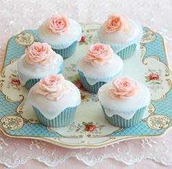 Precious Rose Cupcakes -  One Dozen