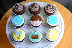 Birthday Boy's Delight Cupcakes -  One Dozen