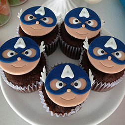 Classic Captain America Cupcakes - One Dozen