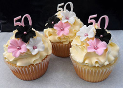 Flower Studded Birthday Cupcakes