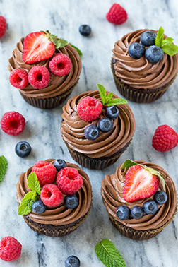 Mixed Berry Signature Chocolate Dozen Cupcakes