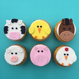 Farm Animals Dozen Cupcakes