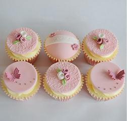 Rose Butterflies Dozen Cupcakes