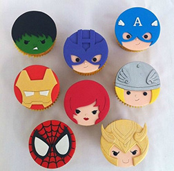 Mighty Avengers Dozen Cupcakes